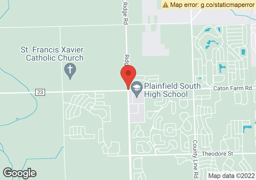 Google Map of 7851 CATON FARM RD