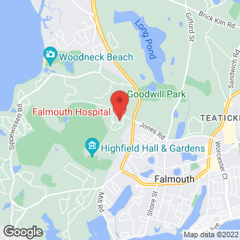Map of Anastasios Sakellariou, MD at 100 Ter Heun Drive, Falmouth, MA 02540
