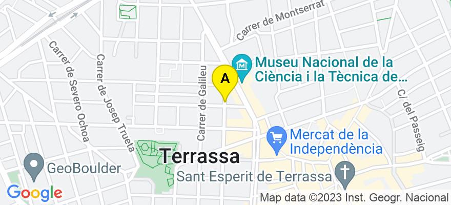 situacion en el mapa de . Direccion: Arquimedes 244, 2º 1ª, 08224 Terrassa. Barcelona