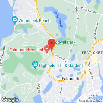 Map of Mark Lovich, MD at 100 Ter Heun Drive, Falmouth, MA 02540