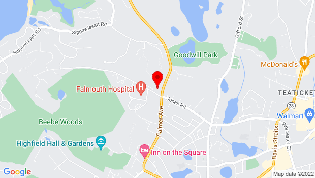 Google Map of 100 Terrace Heun Dr., Falmouth, MA 02536
