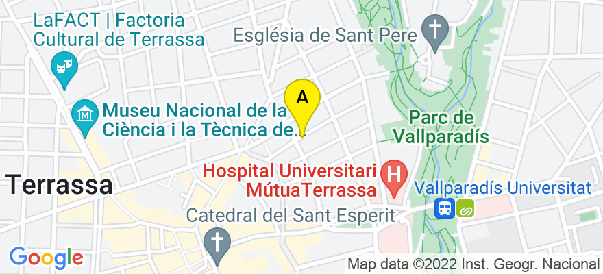 situacion en el mapa de . Direccion: Juaquim de paz, 32, 08221 Terrassa. Barcelona