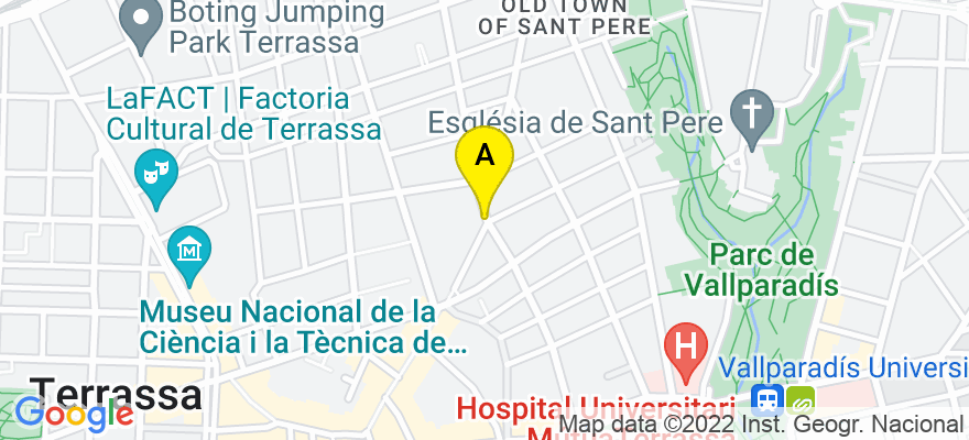 situacion en el mapa de . Direccion: PLAÇA MOSSEN JACINT VERDAGUER, 19-2, 08221 Terrassa. Barcelona