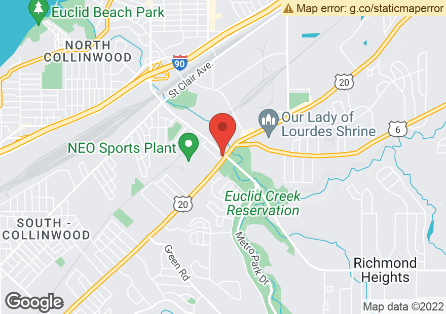 Google Map of 20485 EUCLID AVE