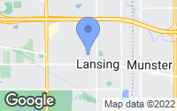 Map of Lansing, IL