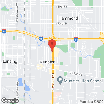 "Map of <span class=""LocationName"" itemprop=""name"" id=""location-name""><span class=""LocationName-brand"">AT&amp;T Store</span> <span class=""LocationName-geo"">Munster</span></span> at 7940 Calumet Ave, Munster, IN 46321"