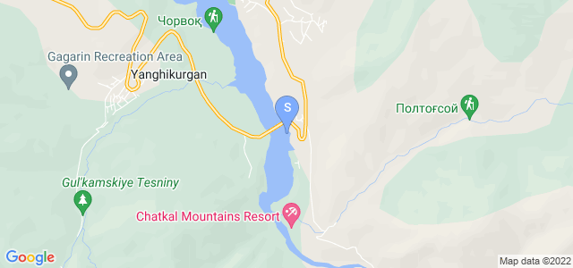 Location of Chatcal  Mountains on map