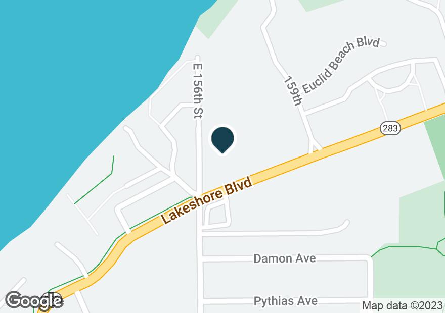 Google Map of15609 LAKE SHORE BLVD