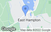 Map of East Hampton, CT