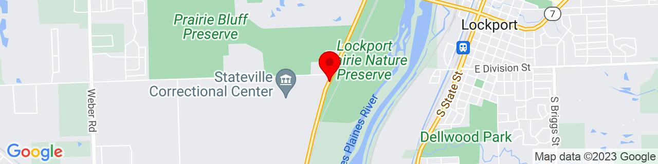 Google Map of 41.5807884, -88.08249719999999