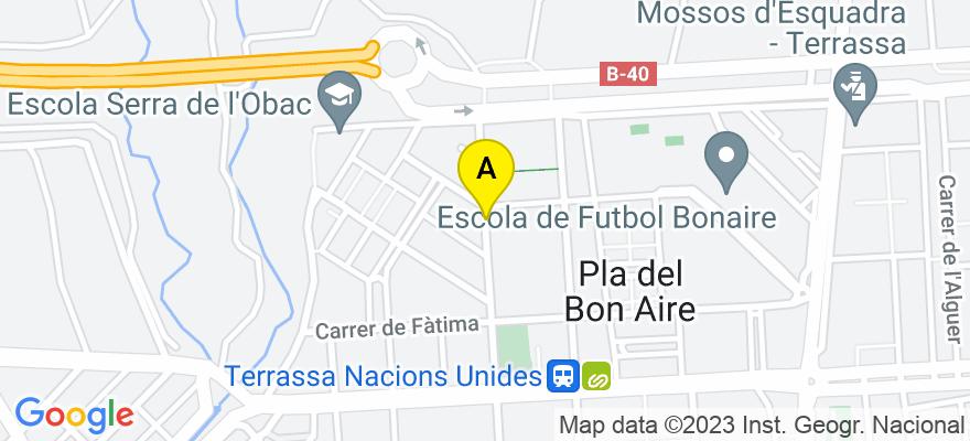 situacion en el mapa de . Direccion: Parc de les Nacions Unides 4, 5-4, 08225 Terrassa. Barcelona