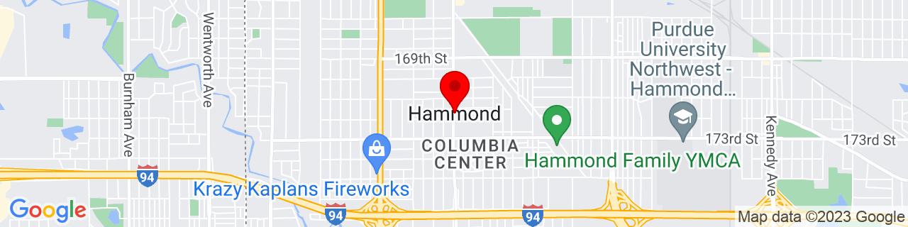 Google Map of 41.58337, -87.50004