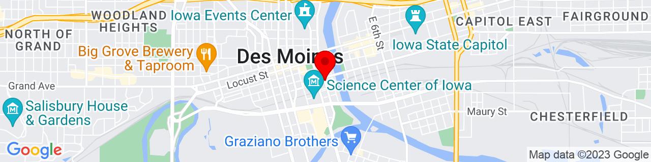 Google Map of 41.58513079999999, -93.6190261