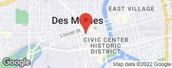 Map of 666 Walnut St in Des Moines