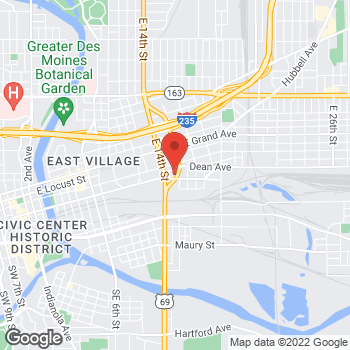 Map of Arby's at 208 Johnson Ct, Des Moines, IA 50316-3972
