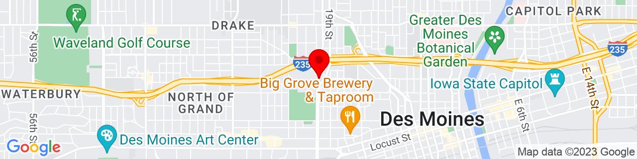 Google Map of 41.5934031, -93.6444941