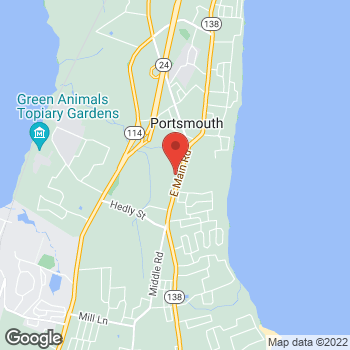 Map of Rite Aid at 2456 East Main Road, Portsmouth, RI 02871