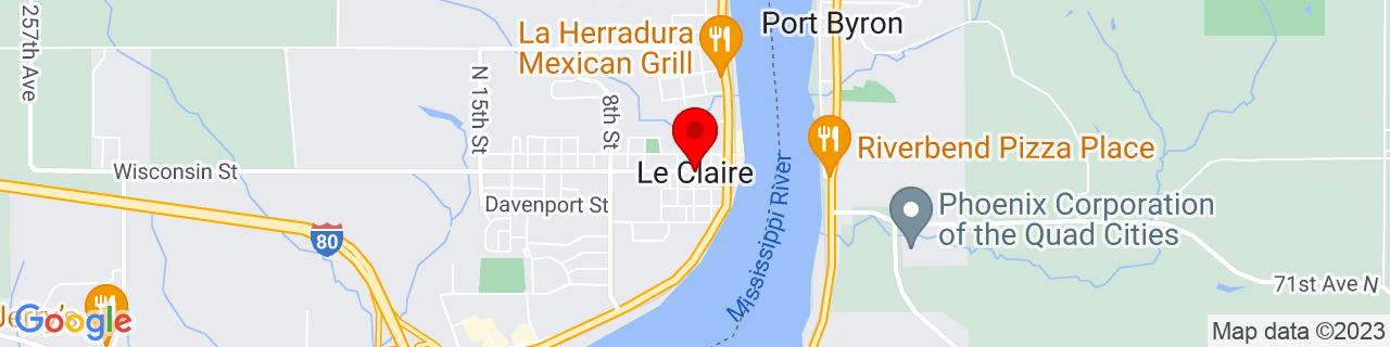 Google Map of 41.5975061, -90.3462215