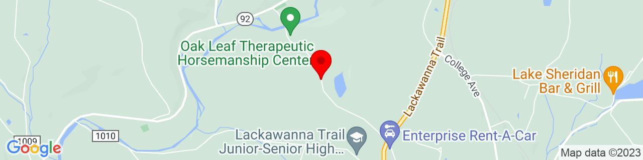 Google Map of 41.5978346, -75.8167187