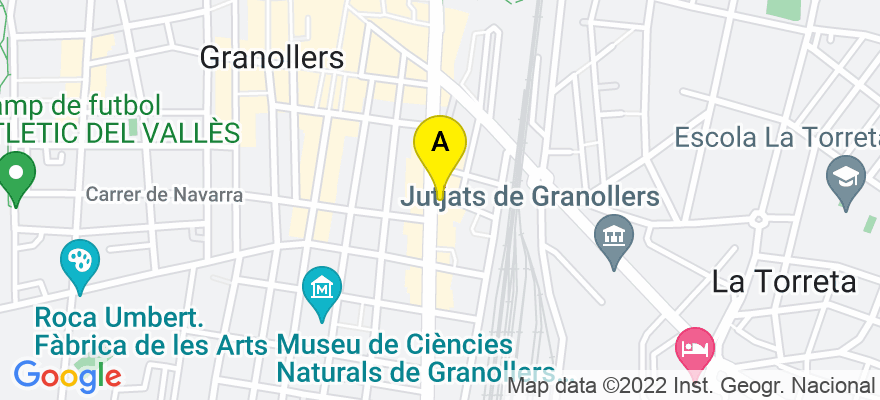 situacion en el mapa de . Direccion: Plaza Once de Setembre, 13 2 A, 08400 Granollers. Barcelona
