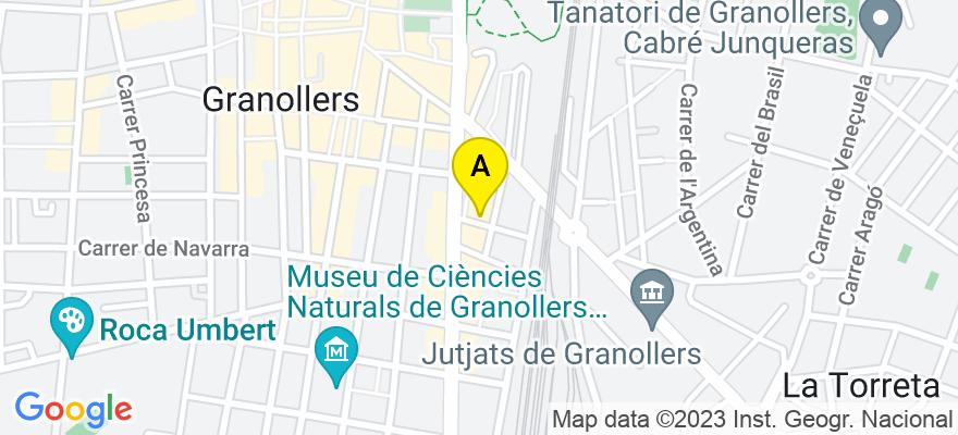 situacion en el mapa de . Direccion: Plaza Onze de Setembre 13, 1º, 08401 Granollers. Barcelona