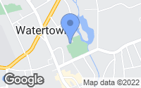 Map of Watertown, CT