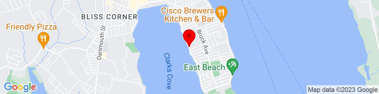 Google Map of 41.6052015, -70.9150815