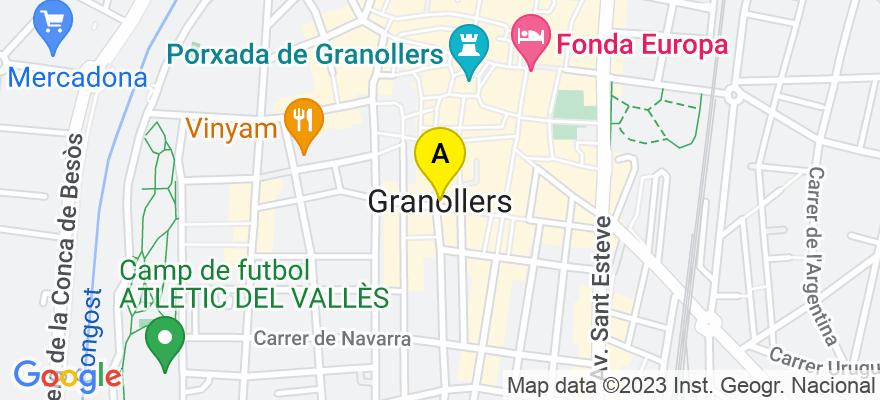 situacion en el mapa de . Direccion: Carrer Catalunya, 12-18 (local), 08401 Granollers. Barcelona