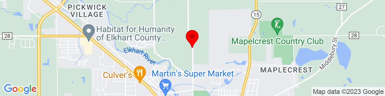 Google Map of 41.6062253, -85.84862360000001