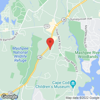 Map of Jay G. Stearns, MD at 107 Commercial Street, Mashpee, MA 02649