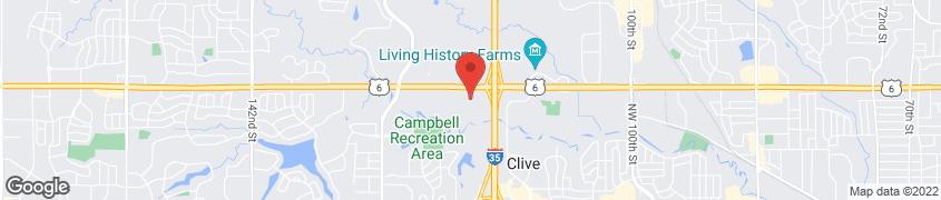 Map of 11820 Hickman Road in Clive