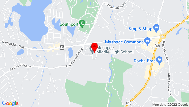 Google Map of 500 Old Barnstable Road, Mashpee, MA 02649