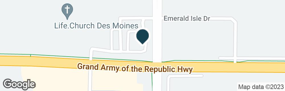 Google Map of15601 HICKMAN RD