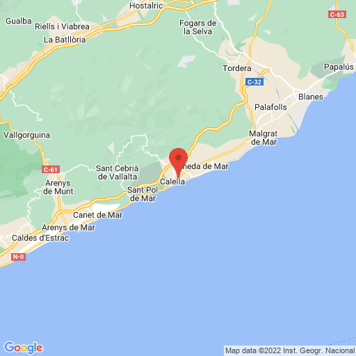 I. SPRING CUP CALELLA 2010 map