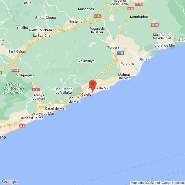 Club Balonmano Calella map