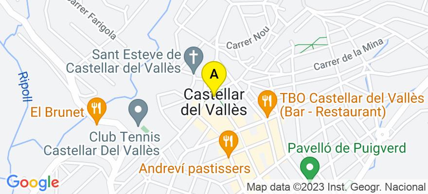 situacion en el mapa de . Direccion: PLAÇA CALISSO 2, 08211 Castellar del Vallès. Barcelona