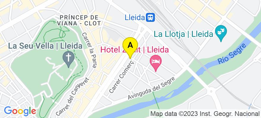 situacion en el mapa de . Direccion: C/ General Brito núm 2 3r-B, 25007 Lleida. Lleida