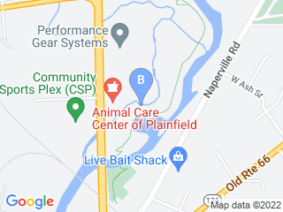 Map of Animal Care Center Dog Boarding options in Plainfield | Boarding