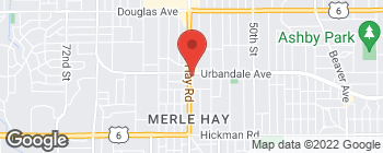 Map of 2929 Merle Hay Rd in Des Moines