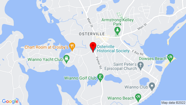 Google Map of 155 West Bay Road, Osterville, MA 02655