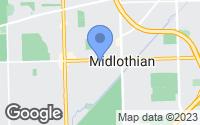 Map of Midlothian, IL