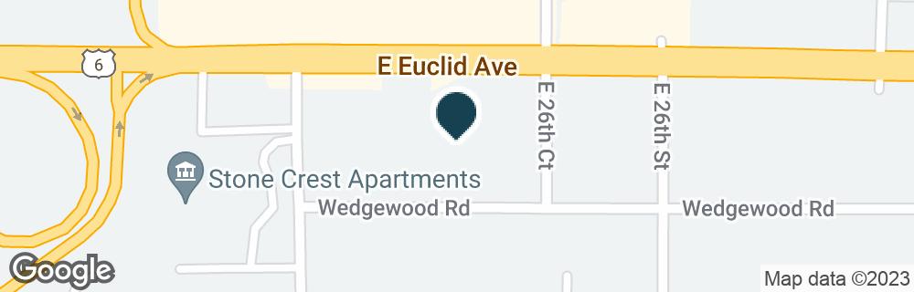 Google Map of2545 E EUCLID AVE