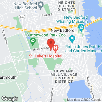 Map of Jeffrey Michaud, MD at 60 Brigham Street, New Bedford, MA 02740