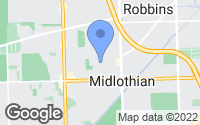 Map of Midlothian, IL