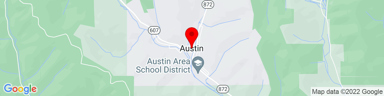 Google Map of 41.63118, -78.09139