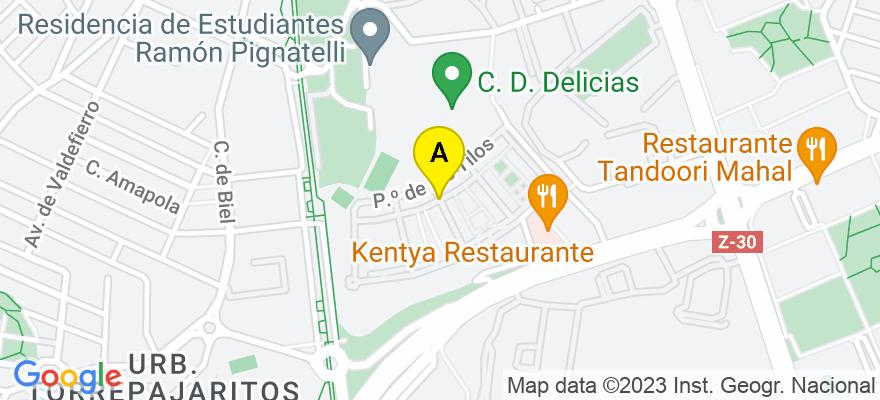 situacion en el mapa de . Direccion: Calle del Roble n°4, 50012 Zaragoza. Zaragoza