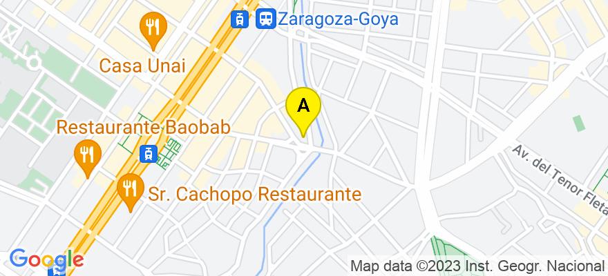 situacion en el mapa de . Direccion: C/ San Juan de la Cruz, 25 3o d, 50006 Zaragoza. Zaragoza
