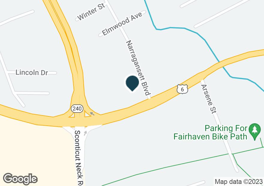 Google Map of220 HUTTLESTON AVE