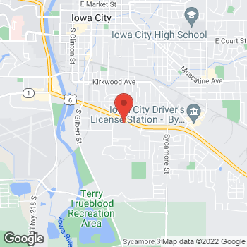 Map of Taco Bell at 901 Highway 6 E, Iowa City, IA 52240