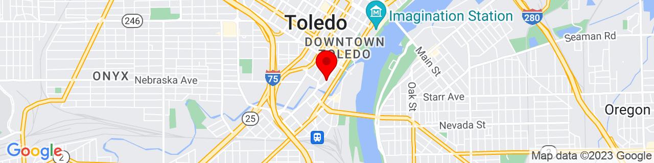 Google Map of 41.64537259999999, -83.5399218